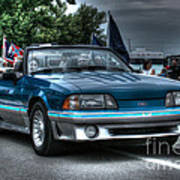 92 Mustang Gt Art Print
