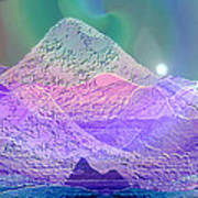 939 - Magic Mood  Mountain World Art Print