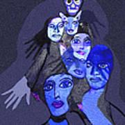 957 - Boom Doom Hallucination   Art Print by Irmgard Schoendorf Welch