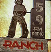 95.9 The Ranch Art Print
