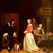 The Suitors Visit Art Print