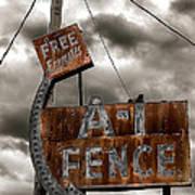 A-1 Fence Art Print