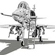 Ta-4j Skyhawk Art Print