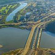 Fort Mcmurray From The Sky Art Print