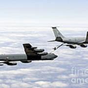 A B-52h Stratofortress Refuels Art Print by Erik Roelofs