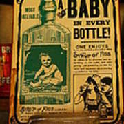 A Baby In Every Bottle Art Print