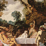 A Bacchanalian Feast, C.1617 Art Print