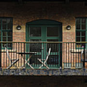 A Balcony On The River Aire Art Print