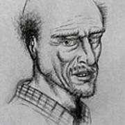 A Bald Guy Art Print