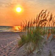 A Beach Sunset Art Print