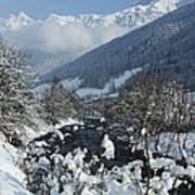 A Beautiful Winterday - Austrian Alps Art Print