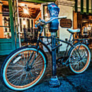 A Bike In Front Of Cafe Du Monde In New Orleans Art Print