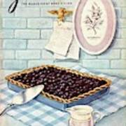 A Blueberry Tart Art Print
