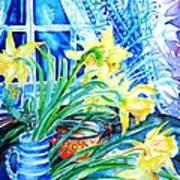 A Bouquet Of April Daffodils  Art Print