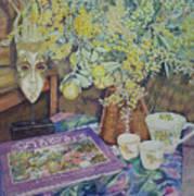 A Bouquet Of Flowers Art Print