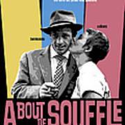 A Bout De Souffle Movie Poster Art Print