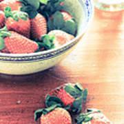 A Bowl Of Strawberries Art Print