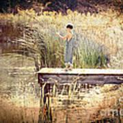 A Boy Fishing Art Print