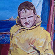 A Boy On A Boat Art Print by Jack Skinner