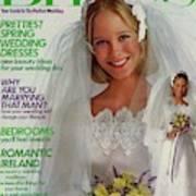 A Bride Wearing A Bill Schad Mendocino Dress Art Print