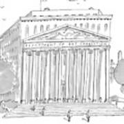 A Building In Washington Dc Is Shown Art Print by Michael Crawford