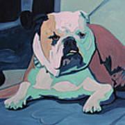 A Bulldog In Love Art Print