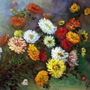 A Bunch Of Flowers Art Print