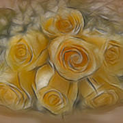 A Bunch Of Yellow Roses Art Print