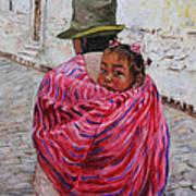 A Bundle Buggy Swaddle - Peru Impression IIi Art Print by Xueling Zou