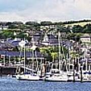 A Busy Harbour And Waterfrontkinsale Art Print