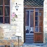 A Cafe In San Gimignano Tuscany Art Print
