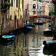 Calm Canal In Venice  Art Print