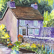 A Castleton Cottage In Uk Art Print