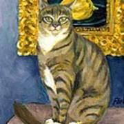 A Cat And Eduard Manet's The Lemon Art Print