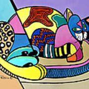 A Cat Named Picasso Art Print