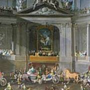 A Cavalcade In The Winter Riding School Of The Vienna Hof To Celebrate The Defeat Of The French Art Print