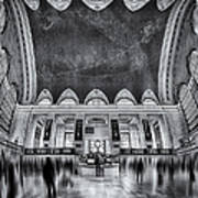 A Central View Bw Art Print