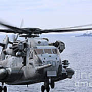 A Ch-53e Super Stallion Conducts Flight Art Print
