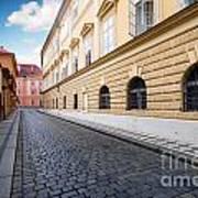 A Charming Street In Prague Art Print