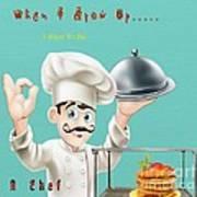 A Chef 1 Art Print