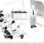 A Chemistry Teacher Addresses His Students Art Print