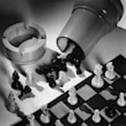 A Chess Set Art Print