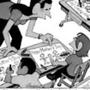 A Child Responds To Her Schoolteacher Who Art Print