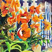 A Choir Of Poppies Art Print by Kathy Braud