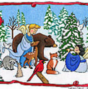 A Christmas Scene 2 Art Print by Sarah Batalka