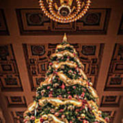 A Christmas Tree At Union Station Art Print