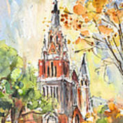 A Church In Our Street In Budapest Art Print