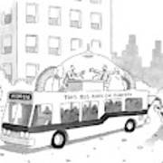 A City Bus Is Seen With A Rooftop Bubble Art Print