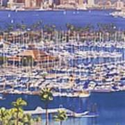 A Clear Day In San Diego Art Print