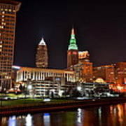 A Cleveland Night Art Print